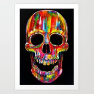 Art Print featuring Chromatic Skull by John Filipe