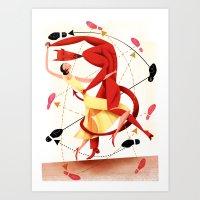 Valentine Dance Macabre Tango Art Print