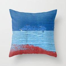 Blue Blue Red Throw Pillow