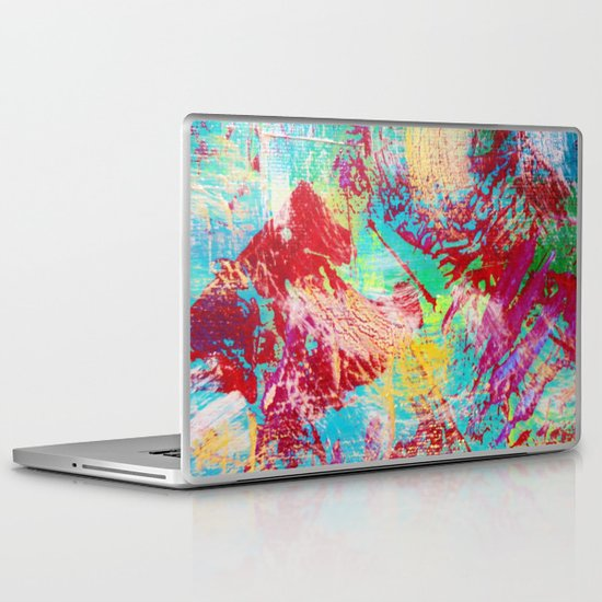 REEF STORM - Fun Bright BOLD Playful Rainbow Colors Underwater Ocean Reef Theme Coral Aquatic Life Laptop & iPad Skin