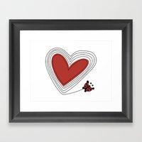 A Love Yo-yo Framed Art Print