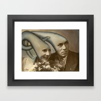 NoodleHeadz - Oil Paint on top of old vintage photography Framed Art Print