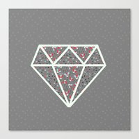 pattern diamond dark gray Canvas Print