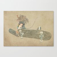 Skate Rat  Canvas Print