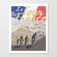 Le Tour De France Retro … Canvas Print