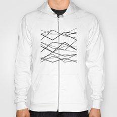 B/W geometric pattern (waves) Hoody