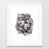 Faces and Color Framed Art Print