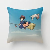Magical Deliveries Throw Pillow