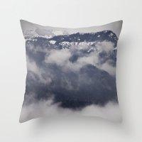 Cold Columbia Gorge Morn… Throw Pillow