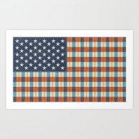 Plaid Flag. Art Print