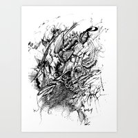 Aggresive Art Print