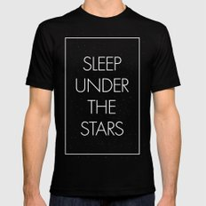 Sleep Under The Stars Mens Fitted Tee SMALL Black