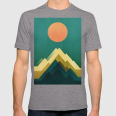 Gold Peak Mens Fitted Tee Tri-Grey SMALL