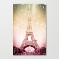 Eiffel Tower in Color Canvas Print