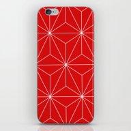Star Red & White iPhone & iPod Skin