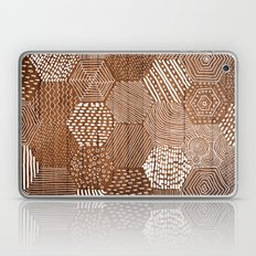 hexagon doodle patterns on wood Laptop & iPad Skin