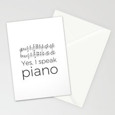 I speak piano Stationery Cards