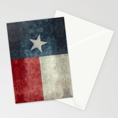 Texas state flag, Vertical retro vintage version Stationery Cards