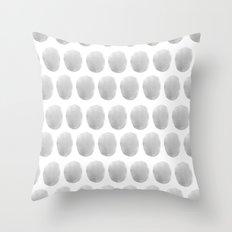 Watercolour polkadot grey Throw Pillow