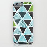 Tribal Triangles - aqua iPhone 6 Slim Case