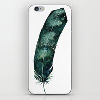 Galaxy Feather iPhone & iPod Skin