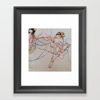 Our Little Hearts Are Intertwined (left) Framed Art Print