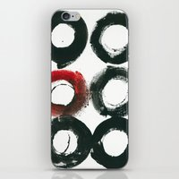 Black Circle Red Circle iPhone & iPod Skin