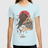 Rebirth Womens Fitted Tee Light Blue SMALL