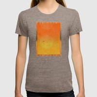 Full Moon Rising Womens Fitted Tee Tri-Coffee SMALL