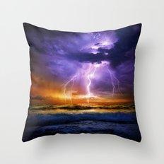 Illusionary Lightning Throw Pillow