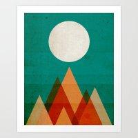 Full Moon Over Sahara De… Art Print