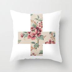 Flower Cross Throw Pillow