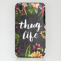 iPhone 3Gs & iPhone 3G Cases featuring Thug Life by Text Guy