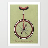 Unicycle Art Print