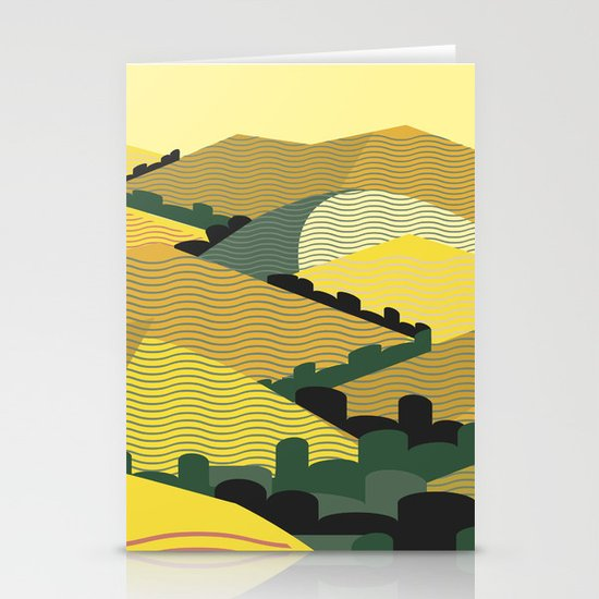 California Hills Stationery Card