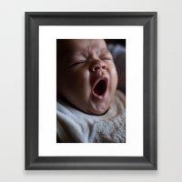 Baby Face Framed Art Print