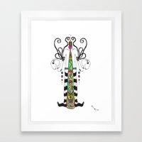 Bipartition Framed Art Print