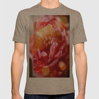 Magical Peony Mens Fitted Tee Tri-Coffee SMALL