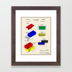 Lego Building Brick Pate… Framed Art Print