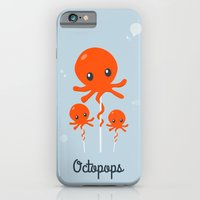 octopus iPhone & iPod Cases featuring Octopus by Jane Mathieu