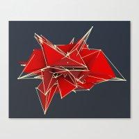 Abstract Polygons V2 Canvas Print