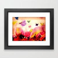 butterfly dreams Framed Art Print