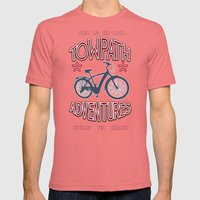TOWPATH ADVENTURES Mens Fitted Tee Pomegranate SMALL