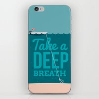Take A Deep Breath iPhone & iPod Skin