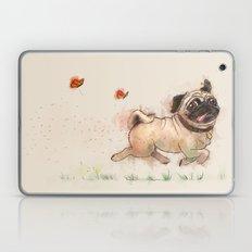The Furminator pug watercolor like art Laptop & iPad Skin