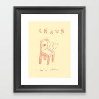 chair a little about yrself Framed Art Print