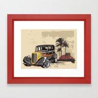 Hot Rod Paradise Framed Art Print