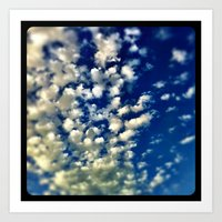 A bunch of clouds in the sky. Art Print