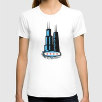 CHICAGO Womens Fitted Tee White SMALL