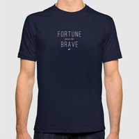 Fortune Mens Fitted Tee Navy SMALL